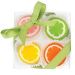 Citrus Mini Cookie Clear Gift Box- 4 pc