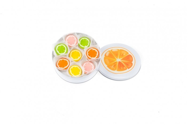 Citrus Mini Cookie Tin of 16