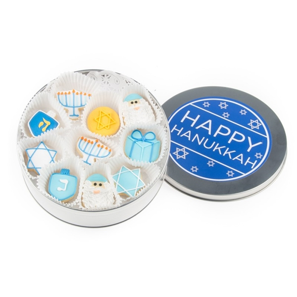 Hanukkah Mini Cookie Tin of 16