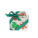 Christmas Mini Cookie Clear Gift Box- 4 pc