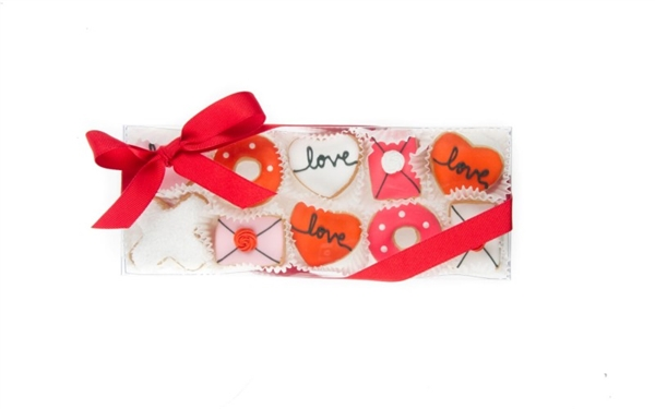 Love Mini Cookie Clear Gift Box- 10 pc