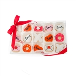 Love Mini Cookie Clear Gift Box- 15 pc