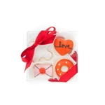 Love Mini Cookie Clear Gift Box- 4 pc