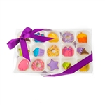 Sweet Celebration Mini Cookie Clear Gift Box- 15 pc