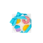 Sweet Celebration Mini Cookie Clear Gift Box- 4 pc