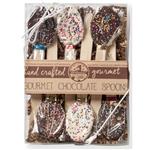 "NEW! Kraft Box of 6 Multi Pariel 5.5"" Chocolate Spoons"