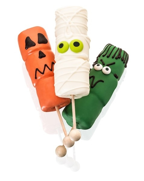 Halloween! Hand-Dipped Marshmallows- Sticks With Rounded End