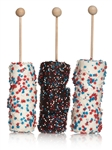 Patriotic Hand-Dipped Marshmallows- Sticks With Rounded End