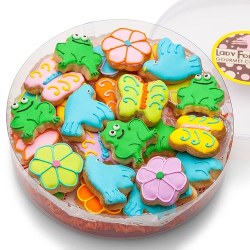 MINI SUGAR SHORTBREAD COOKIE ACETATE- SPRING ASSORTED