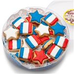 MINI SUGAR SHORTBREAD COOKIE ACETATE- PATRIOTIC ASSORTED