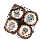 Edible Print (TM) Dia de los Muertos Clear Box of 4 Oreos