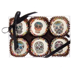Edible Print (TM) Dia de los Muertos Clear Box of 6 Oreos