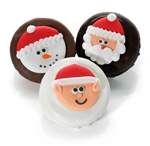Christmas Joy Chocolate Dipped & Decorated Oreos®- Individually Wrapped