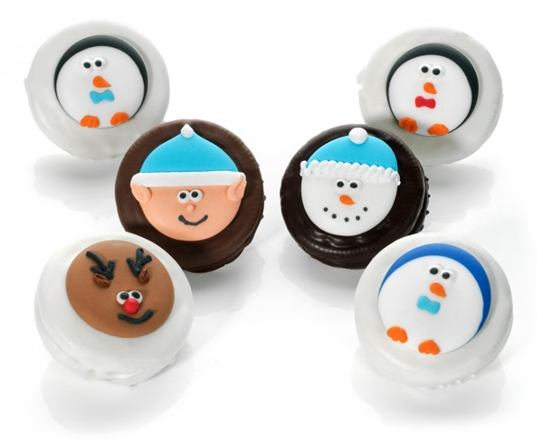 Winter Delight Chocolate Dipped & Decorated Oreos®- Individually Wrapped