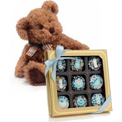 New Baby Boy Oreo® Cookies- Gold Box of 9 and Lil' Fur-Tune™