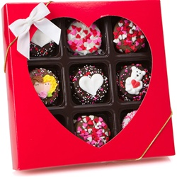 Romantic Chocolate Dipped Oreos®, Box of 9