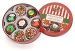 Christmas Tin of 16 Chocolate Dipped & Decorated Oreos®