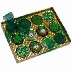 Belgian Chocolate St. Patrick's Day Oreos®- Gold Box of 12