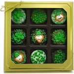 Belgian Chocolate St. Patrick's Day Oreos®- Gold Box of 9