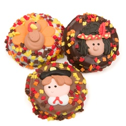 Thanksgiving Chocolate Dipped & Decorated Oreos®- Individually Wrapped