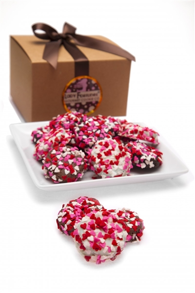 Heart Sprinkles Chocolate Dipped Oreos®, Kraft Gift Boxed Set