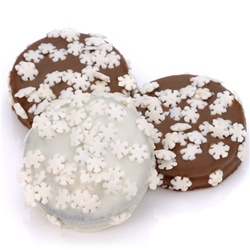 Snowflake Sprinkles Chocolate Dipped & Decorated Oreos®- Individually Wrapped