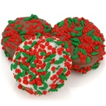 Holly Berry Sprinkles Chocolate Dipped & Decorated Oreos®- Individually Wrapped