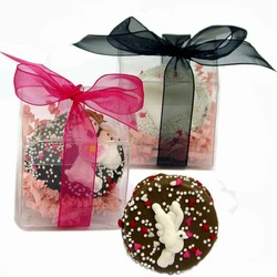Wedding Chocolate Oreos®-Indivually Wrapped- Clear Favor Boxes with Ribbon