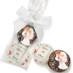 Wedding Chocolate Oreos®-Bag of 2 Tied With Ribbon