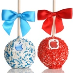 Logo Caramel Chocolate Apple