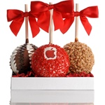 Logo Caramel Chocolate Apples- Gift Set of 3