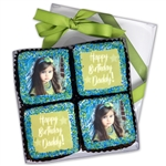"Photo/Logo 2.5"" Square Brownies- Clear 6"" x 6"" x 7/8"" Gift Box of 4"