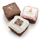 Corporate Logo Brownies -White Chocolate Dipped