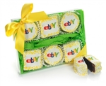 "Logo 2.5"" Square Brownies- Clear 7.5"" x 5.5"" x 1"" Gift Box of 6"