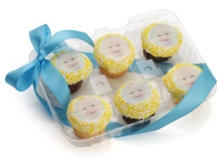 Picture Mini Cupcake- Clear Gift Box of 6