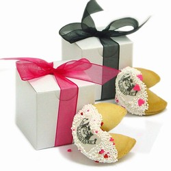 Picture Fortune Cookies -Individually Wrapped & Gift Boxed with Ribbon