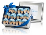 Elegant Tin of 12 Logo Gourmet Fortune Cookies