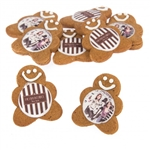 "2"" Gingerbread Men Logo Cookies"
