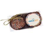 Clear Acrylic Gift Box of 2 Oreos®- 1 Logo + 1 Chocolate Sprinkles