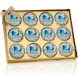 Gold Window Box of 12 Corporate Oreo® Picture Cookies