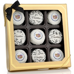 Gold Window Gift Box of 9 Oreo® Picture Cookies