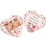 "Picture Sugar Cookies, White Chocolate, 3"" Heart- INDIVIDUALLY WRAPPED"