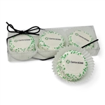Logo Truffle Cake Bons Clear Box of 3