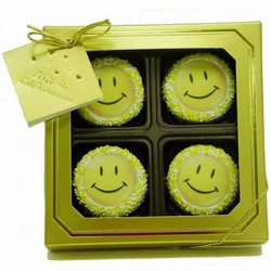 Gold Box of 4 Happy Face Oreos®
