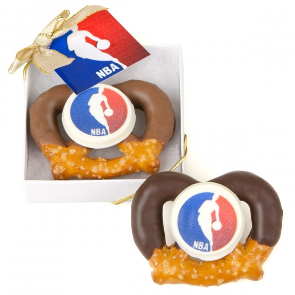 Logo Chocolate Bavarian Twists- Favor Boxed