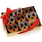 Classic Chocolate Pretzel Twists, Box of 9