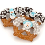 Winter Edition Chocolate & Caramel Pretzel Twists- Individually Wrapped