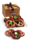 Christmas Belgian Chocolate Pretzel Twists Gourmet Gift Box