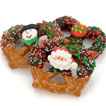 Christmas Chocolate & Caramel Pretzel Twists- Individually Wrapped