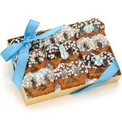 Winter Chocolate Pretzel Twists, Box of 9